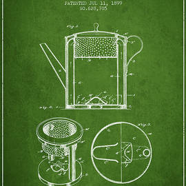 Aged Pixel - 1899 Coffee Pot patent - green