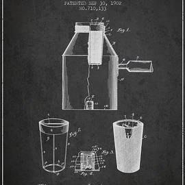 Aged Pixel - 1902 Coffee maker patent - charcoal