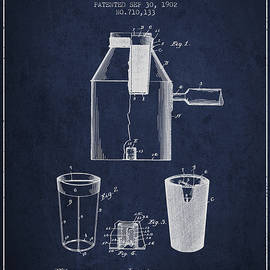 Aged Pixel - 1902 Coffee maker patent - navy blue