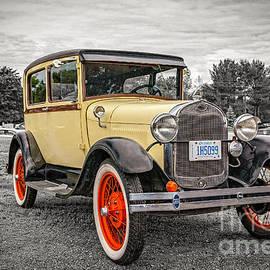 Gene Healy - 1929 Ford Model A Deluxe Tudor sedan - selective colour