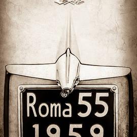 1955 Alfa Romeo 1900 CSS Ghia Aigle Cabriolet Grille Emblem - Super Sprint Emblem -0601s - Jill Reger