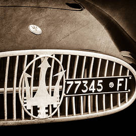 1955 Maserati A6GCS Roadster Grille Emblem -0482s - Jill Reger