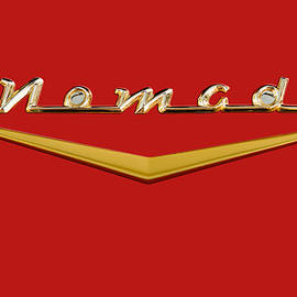 Frank J Benz - 1957 Chevrolet Nomad Station Wagon Tail Gate Badge - Matador Red