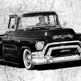 Steve McKinzie - 1957 GMC Truck Black and White