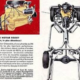 R Muirhead Art - 1959 Oldsmobile Prestige Brochure page 26 and 27