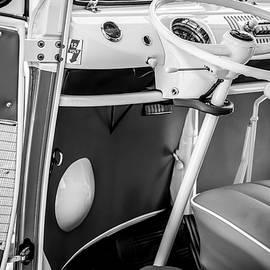 1964 Volkswagen VW Steering Wheel -0298bw - Jill Reger