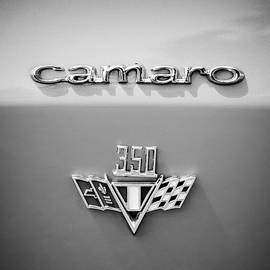 1967 Chevrolet Camaro 350 Emblem -0357bw2 - Jill Reger
