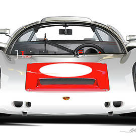 1967 Porsche 910 illustration - Alain Jamar