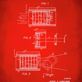1969 Short Wave Electromagnetic Radiation Patent Red - Nikki Marie Smith