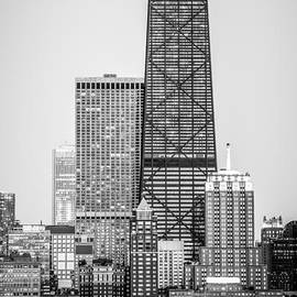 Chicago Hancock Building Black and White Picture - Paul Velgos