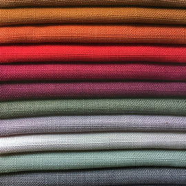 Colorful fabric samples - Tom Gowanlock