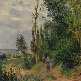 Cote des Grouettes, near Pontoise - Camille Pissarro