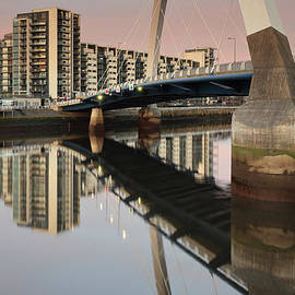 Maria Gaellman - Glasgow Clyde Arc Bridge at Sunset
