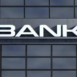 Glass Bank Building Signage - Allan Swart