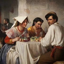 In a Roman Osteria - Carl Bloch