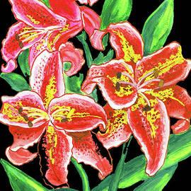 Irina Afonskaya - Red lilies