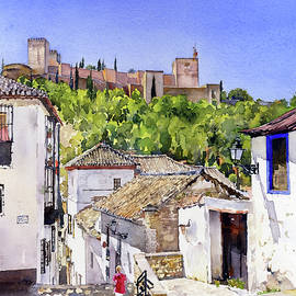Margaret Merry - The Alhambra from the Albaicin