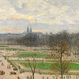The Garden of the Tuileries on a Winter Afternoon - Camille Pissarro
