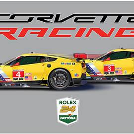 2016 Daytona 24 Hour Corvette poster - Alain Jamar