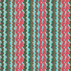 Navin Joshi -  Dark Green  Light Green Red sparkle downword patterns created out of  micro clips from my collecti