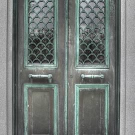 Jane Linders - Door, doors, portals, portal,bellefontaine, verdigris, metal door, copper door
