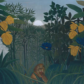 The Repast of the Lion - Henri Rousseau