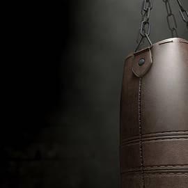 Vintage Leather Punching Bag - Allan Swart