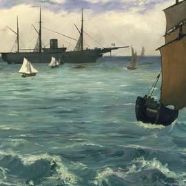 The Kearsarge at Boulogne - Edouard Manet