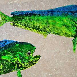 Jeffrey Canha - Gyotaku - Mahi Mahi - Dorado - Dolphinfish