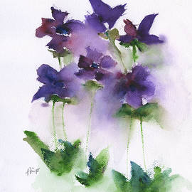 Frank Bright - 6 Violets Abstract