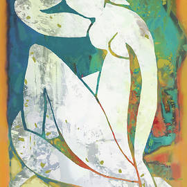 Nude pop stylised art poster - Kim Wang