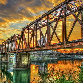 Reid Callaway - 6th Street Sunset Drawbridge Trestle Style RR Augusta Georgia