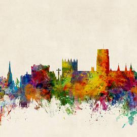 Durham England Skyline Cityscape - Michael Tompsett