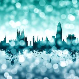 Barcelona Spain Skyline - Michael Tompsett