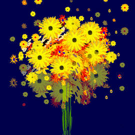 Irmgard Schoendorf Welch - 952 - Summer Flowers  Yellow ...