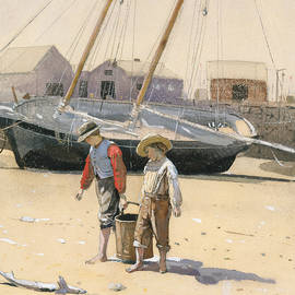 A Basket of Clams - Winslow Homer