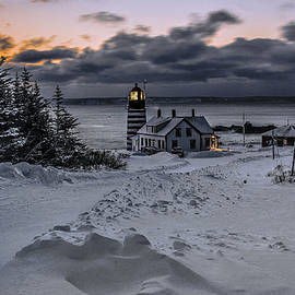 Marty Saccone - A Crisp Winter Morning At West Quoddy Head Lighthouse