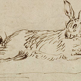 A Hare Running, With Ears Pricked  - James Seymour