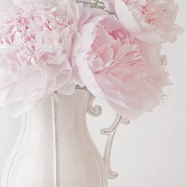 Sandra Foster - A Jug Of Soft Pink Peonies