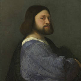 A Man with a Quilted Sleeve - Titian