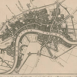A plan of the city and suburbs of London in 1642 - English School