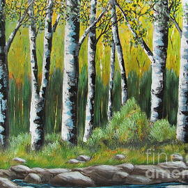 Beverly Livingstone - A Quiet Place- White Birch Trees