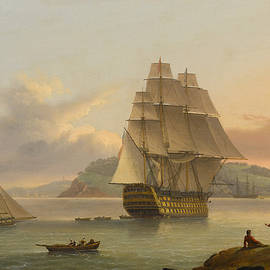 A Ship of the Line off Plymouth - Thomas Luny