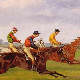 A Steeplechase  - Thomas Henry Alken
