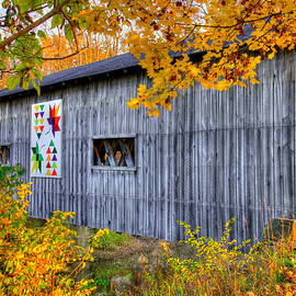 Michael Mazaika - A Tale of Two Pallettes - South Denmark Road Covered Bridge and Barn Quilt - Ashtabula County, Ohio