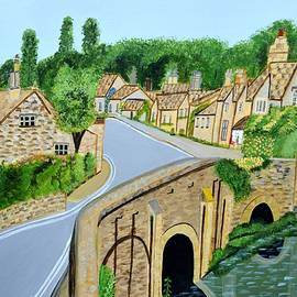 Magdalena Frohnsdorff - A walk through a village in the English Cotswolds