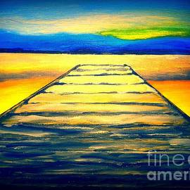 Irving Starr - A Wooden Pier At Sunset
