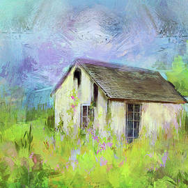 Carla Parris - Abandoned Cottage in Springtime Color