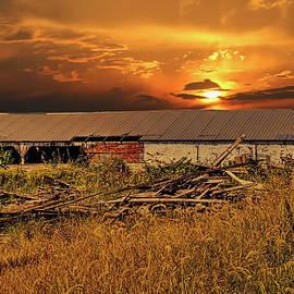 William Sturgell - Abandoned Machinery Shed at Sunset