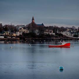 Jeff Folger - Abbot Hall on Marblehead harbor at Christmas